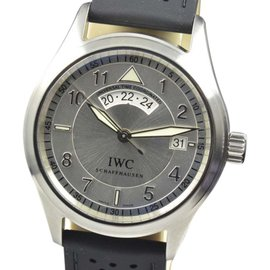 IWC Spitfire IW3251 UTC Silver Dial Stainless Steel Automatic 39mm Mens Watch