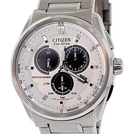 Citizen BL5480-53A Stainless Steel & White Dial 43mm Mens Watch