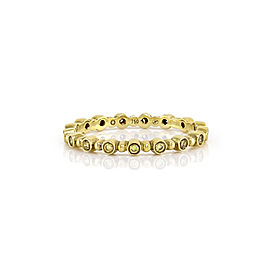 Hidalgo 18K Yellow Gold & Diamond Eternity Band Ring Size 6.25