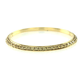 Hidalgo 18K Yellow Gold with Yellow Diamond Eternity Band Ring Size 6.25