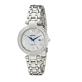 Seiko SUT181 Stainless Steel with Diamond Quartz 30mm Womens Watch