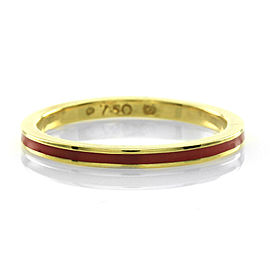 Hidalgo 18K Yellow Gold & Pink Enamel Stackable Eternity Band Ring Size 6.25