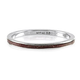 Hidalgo 18K White Gold & Magenta Enamel Stackable Eternity Band Ring Size 6.25