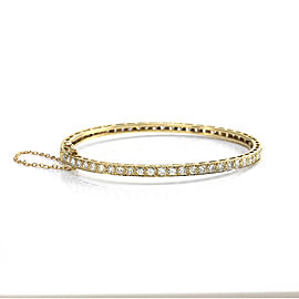 18K Yellow Gold Diamond Eternity Bangle Bracelet