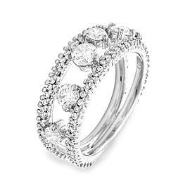 Platinum Diamond Ring Size 6.5