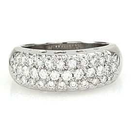 Platinum 0.87ctw. Pave Diamond Ring Size 7.25