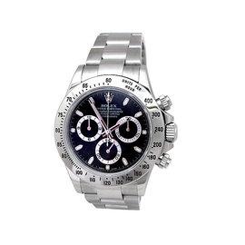 Rolex Daytona 116520 Stainless Steel Black Dial 40mm Mens Watch