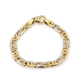 14K Yellow & White Gold Link Bracelet