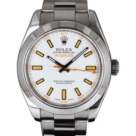 Rolex Milgauss 116400 Stainless Steel White Dial Swiss Automatic 40mm Mens Watch