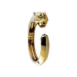 Cartier Panthere De 18K Yellow Gold Hinged Cuff Bangle