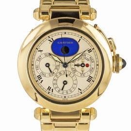Cartier Pasha W3000351 18K Yellow Gold Quartz 38mm Mens Watch