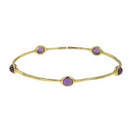 Ippolita 18K Yellow Gold with Amethyst Rock Candy Bangle Bracelet