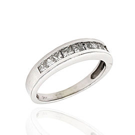 14K White Gold 0.62ctw. Diamond Ring Size 5.25