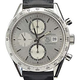 Tag Heuer Carrera CV2017 Stainless Steel with Silver Dial 41mm Mens Watch