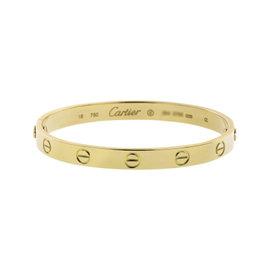 Cartier Love 18K Yellow Gold Bracelet Bangle Size 16