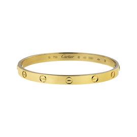 Cartier Love 18K Yellow Gold Bracelet Bangle Size 19