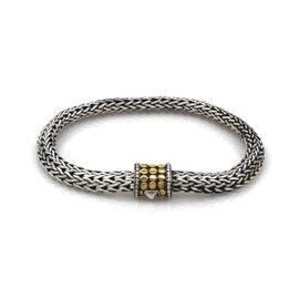 John Hardy Dot Classic Sterling Silver and 18K Yellow Gold Bracelet