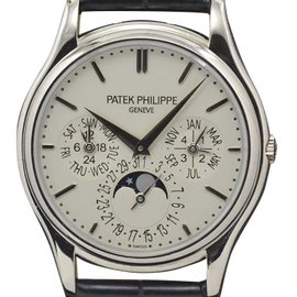 Patek Philippe 5140g-001 Grand Complications Perpetual Calendar White Gold with Silver Dial 37.2mm Mens Watch