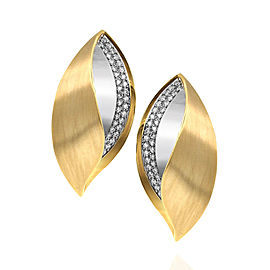 Isabella Fa Pave Diamond Earrings in 18K Yellow & White Gold