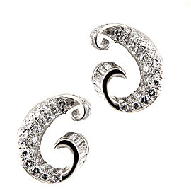 2.50CTW Pave Diamond Earrings in Platinum