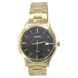 Seiko SUR200 Gold Tone Stainless Steel & Black Dial 41mm Mens Watch