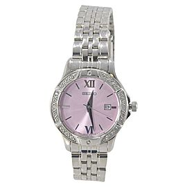 Seiko SUR863 Stainless Steel & Pink Dial 30mm Womens Watch