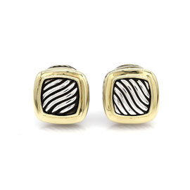 David Yurman Albion 925 Sterling Silver and 18K Yellow Gold Earrings