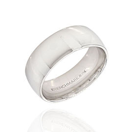 Benchmark Wide 18K White Gold Comfort Fit Band