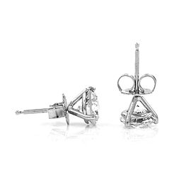 Exquisite Diamond Stud Earrings in 14k White Gold