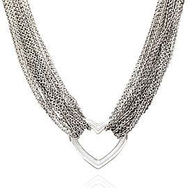 Tiffany & Co. 925 Sterling Silver Multi.-Strand Heart Necklace