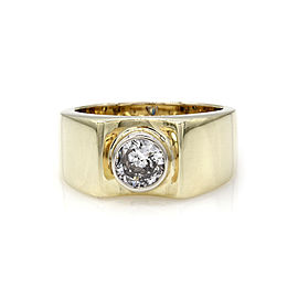 Exquisite Diamond Solitaire Ring in 14k Yellow Gold