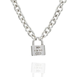 Tiffany & Co. 1837 925 Sterling Silver Padlock Necklace