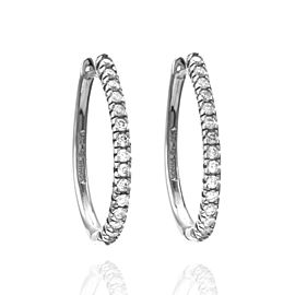 Lovely Sonia B. Diamond Hoop Earrings in 18K White Gold | GS