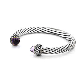 Exquisite David Yurman Moonlight Ice® Amethyst Cuff Bracelet in Silver | SJS