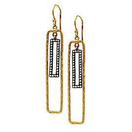 Lika Behar Quadrille Diamond Earrings in 24K Yellow Gold & Sterling Silver