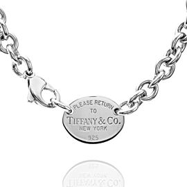 36b4a22ec Tiffany & Co. Return to Tiffany 925 Sterling Silver Oval Tag Necklace