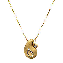Nanis Cachemire Pavé Diamond Necklace Featured in 18K Yellow Gold