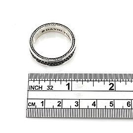David Yurman Sterling Silver Diamond Ring Size 13.25