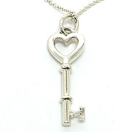 TIFFANY & Co. 925 Silver Heart key Accessories Pendant Necklace
