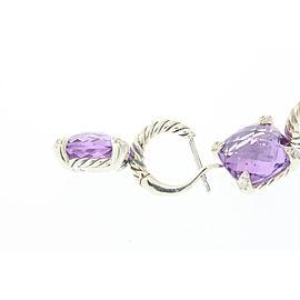 David Yurman Chatelaine Sterling Silver Amethyst, Diamond Earrings