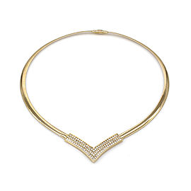 Omega Necklace 14K Yellow Gold Diamond Necklace