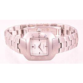Ladies Seiko SWE005 Kinetic Stainless Steel Bracelet White Dial Watch