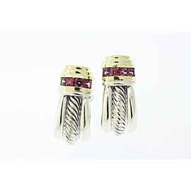 David Yurman 14K Yellow Gold, Sterling Silver Tourmaline Earrings