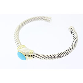 David Yurman Sterling Silver Turquoise Bracelet