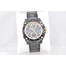 Men's Bulova 98B182 Precisionist Black Stainless Chronograph Black Dial Watch