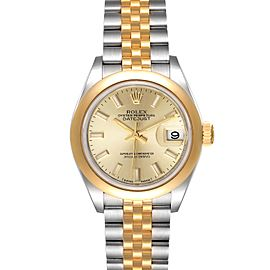 Rolex Datejust Steel Yellow Gold Champagne Dial Ladies Watch 279163