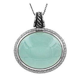 David Yurman Sterling Silver Chalcedony, Diamond Pendant