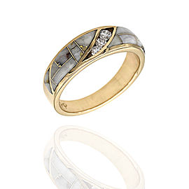 14K Yellow Gold Diamond Ring Size 7.25
