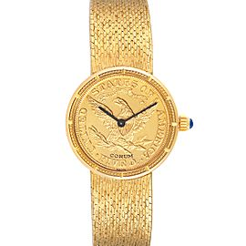 Corum Coin 5 Dollars Double Eagle Yellow Gold Ladies Watch 1902