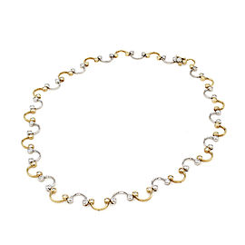 Diamond Wave Necklace in Gold | FJ-B
